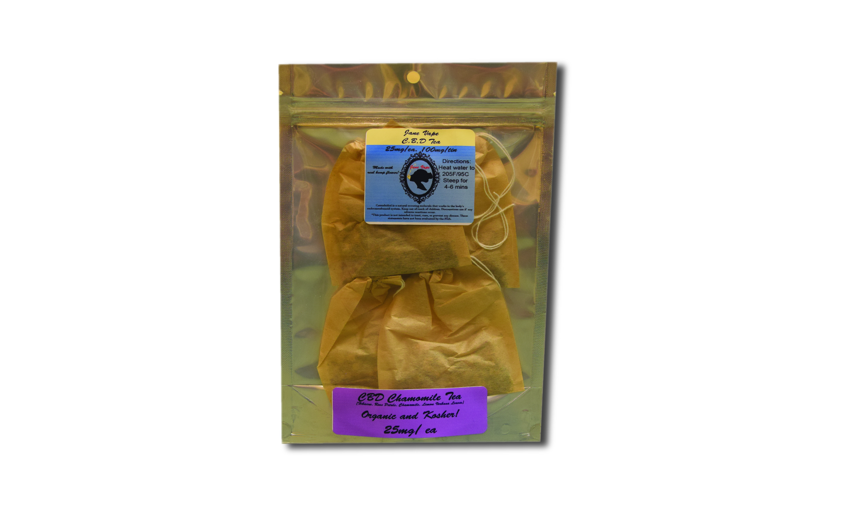 100mg Tea Package (chamomile)